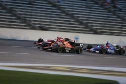 Dario Franchitti, Scott Dixon and Marco Andretti