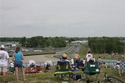 Fans enjoy the race