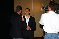 Dario Franchitti was a popular interview after receiving his Champion of Champions winner's ring and