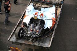 #15 Oak Racing Oak Pescarolo Judd: Matthieu Lahaye, Guillaume Moreau, Pierre Ragues after its crash