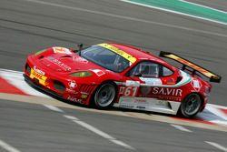 #61 AF Corse Ferrari F430: Piergiuseppe Perazzini, Marco Cioci, St_©phane Lemeret