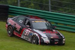 #91 APR Motorsport Audi S4: Gary Gibson, Josh Hurley crash