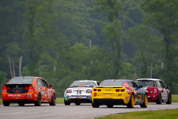 #75 Compass360 Racing Honda Civic SI: Ryan Eversley, Karl Thomson, #9 Stevenson Motorsports Camaro G