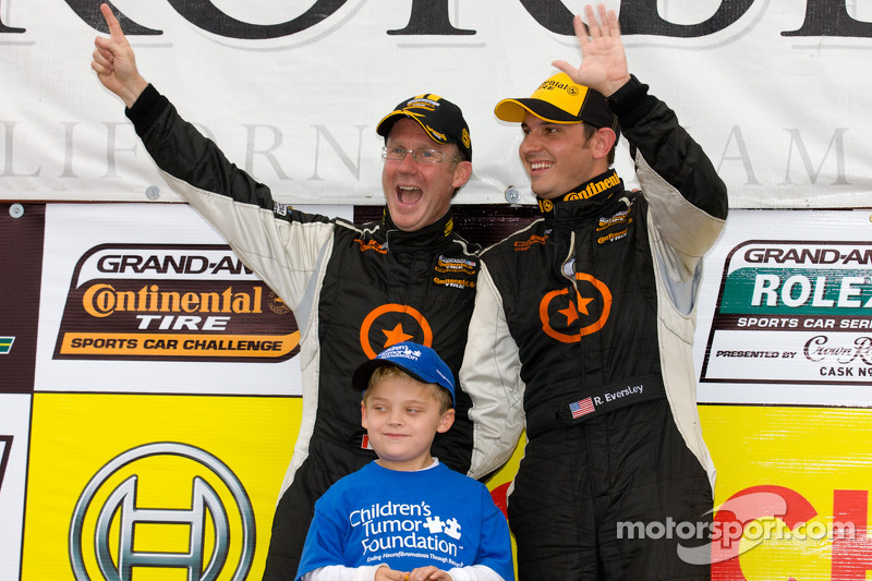 ST podium: winnaars Ryan Eversley en Karl Thomson