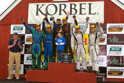 ST podium: class winners Ryan Eversley and Karl Thomson, second place Tyler McQuarrie and Nicolas Ro