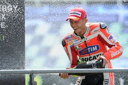 Podium: troisième place Valentino Rossi
