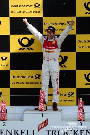 Podium: Mike Rockenfeller, Audi Sport Team Abt Sportsline Audi A4 DTM