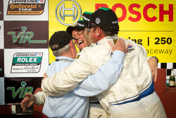 Victory lane: race winners Joao Barbosa, Terry Borcheller and JC France celebrate