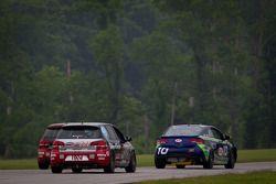 #10 Kinetic Motorsports KIA Forte Koup: Mike Galati, Nic Jonsson, #171 APR Motorsport Volkswagen GTI