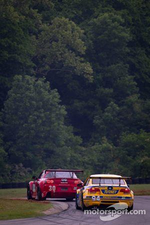 #30 Racers Edge Motorsports Mazda RX-8: Daniel Herrington, Brett Sandberg, #94 Turner Motorsport BMW M3: Bill Auberlen, Paul Dalla Lana