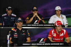 Pastor Maldonado, AT&T Williams, Mark Webber, Red Bull Racing, Jaime Alguersuari, Scuderia Toro Ross