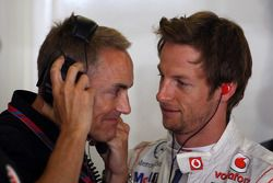 Martin Whitmarsh, McLaren, Président, Jenson Button, McLaren Mercedes