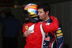 Fernando Alonso, Scuderia Ferrari et Mark Webber, Red Bull Racing