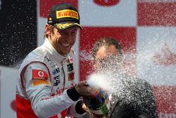 Podium: 3e Jenson Button, McLaren Mercedes