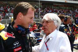 Кристиан Хорнер, руководитель команды Red Bull Racing и Берни Экклстоун