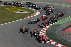 Fernando Alonso, Scuderia Ferrari, F150 en la salida