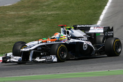 Pastor Maldonado, Williams F1 Team en Adrian Sutil, Force India