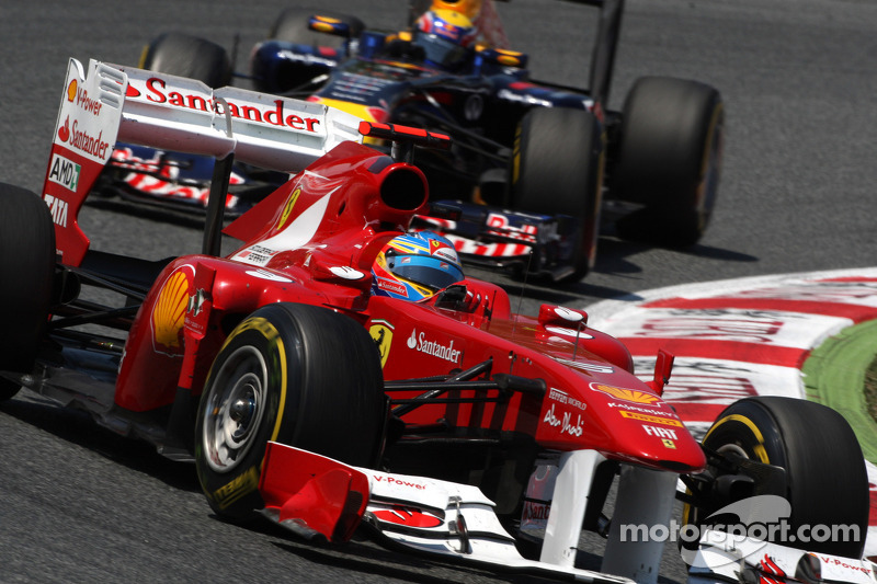 Fernando Alonso, Scuderia Ferrari y Mark Webber, Red Bull Racing