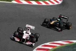 Kamui Kobayashi, Sauber F1 Team, C30 voor Heikki Kovalainen, Team Lotus