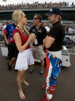 Jay Howard, Sam Schmidt - RLL Racing with his lovely girlfriend