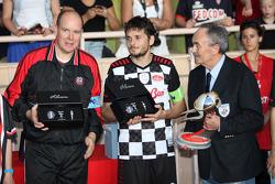 Prince Albert of Monaco and Giancarlo Fisichella, Test Driver, Scuderia Ferrari