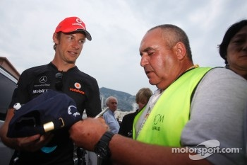 McLaren's Jenson Button almost victim of paddock chaos