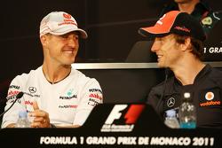Michael Schumacher, Mercedes GP Petronas F1 Team, Jenson Button, McLaren Mercedes