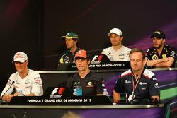 Michael Schumacher, Mercedes GP Petronas F1 Team, Jarno Trulli, Team Lotus, Jenson Button, McLaren M