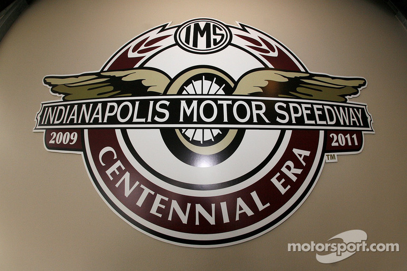 Indianapolis Motor Speedway Centennial Logo At Indy 500