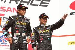 GT300 podium: third place Atsushi Yogo and Manabu Orido