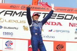 GT500 podium: winnaar Tsugio Matsuda