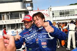 GT500 winners Joao Paul de Oliveira, Tsugio Matsuda