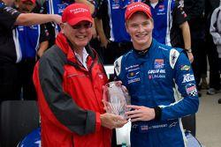 Victory lane: race winner Josef Newgarden, Sam Schmidt Motorsports celebrates