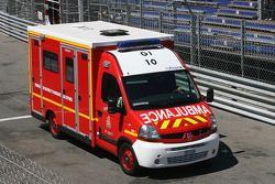 Sergio Perez, Sauber F1 Team es llevado al hospital