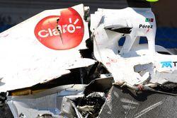 El auto de Sergio Pérez, Sauber F1 Team