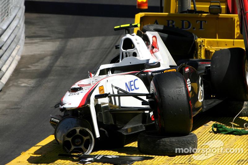 Gros crash à Monaco