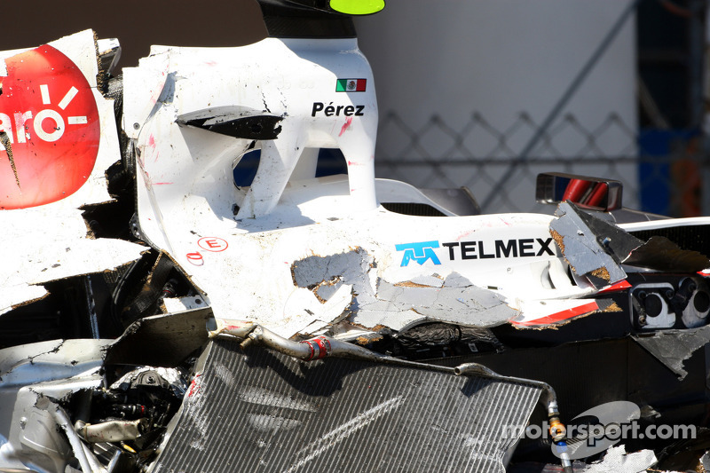 Gran accidente en Mónaco 2011