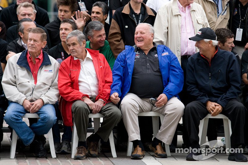 Bobby Unser, Al Unser, A.J. Foyt and Rick Mears