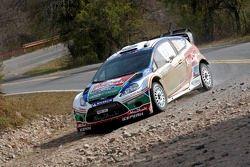 Mikko Hirvonen en Jarmo Lehtinen, Ford Fiesta RS WRC, BP Ford Abu Dhabi World Rally Team