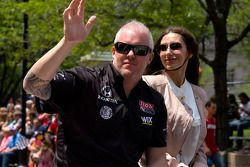 Indy 500 festival parade: Paul Tracy, Dreyer & Reinbold Racing