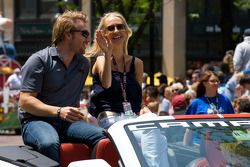 Indy 500 festival parade: Jay Howard, Sam Schmidt - RLL Racing