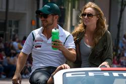 Indy 500 festival parade: EJ Viso, KV Racing Technology-Lotus