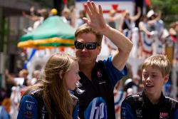 Indy 500 festival parade: Davey Hamilton, Dreyer & Reinbold Racing