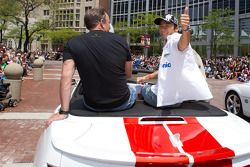 Indy 500 festival parade: Takuma Sato, KV Racing Technology-Lotus