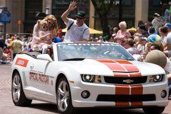 Indy 500 festival parade: Buddy Rice, Panther Racing