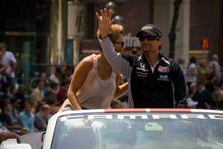 Indy 500 festival parade: pole winner Alex Tagliani, Sam Schmidt Motorsports