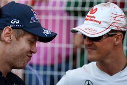 Sebastian Vettel, Red Bull Racing, Michael Schumacher, Mercedes GP Petronas F1 Team