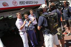 David Coulthard y Eddie Jordan, BBC TV