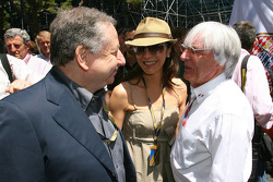 Jean Todt, FIA başkanı ve Bernie Ecclestone