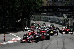 Arrancada, Jenson Button, McLaren Mercedes